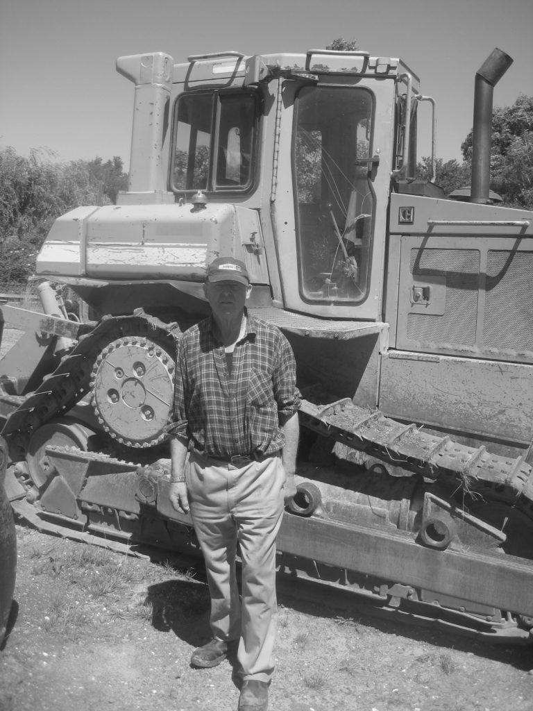 John Fissenden with Caterpillar D6